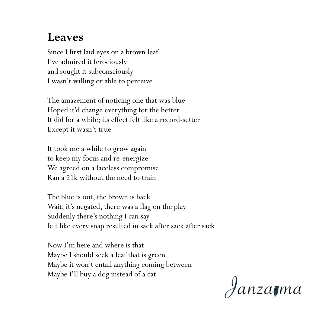 Janzajma poetry break-up