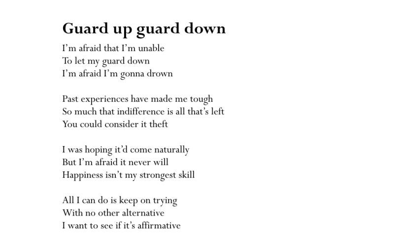 Guard up guard down