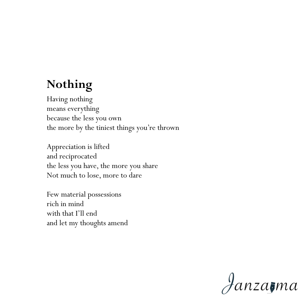 Janzajma poetry reflection