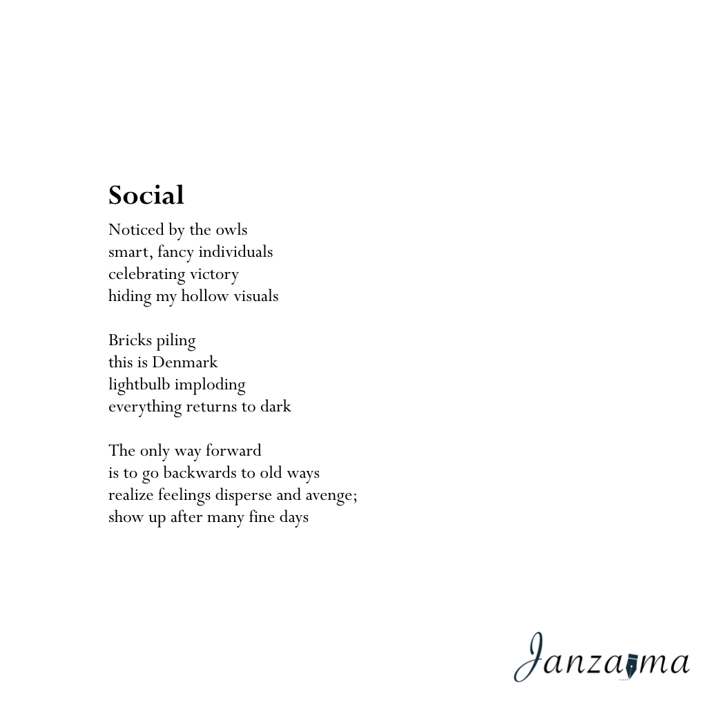 Janzajma poetry anxiety