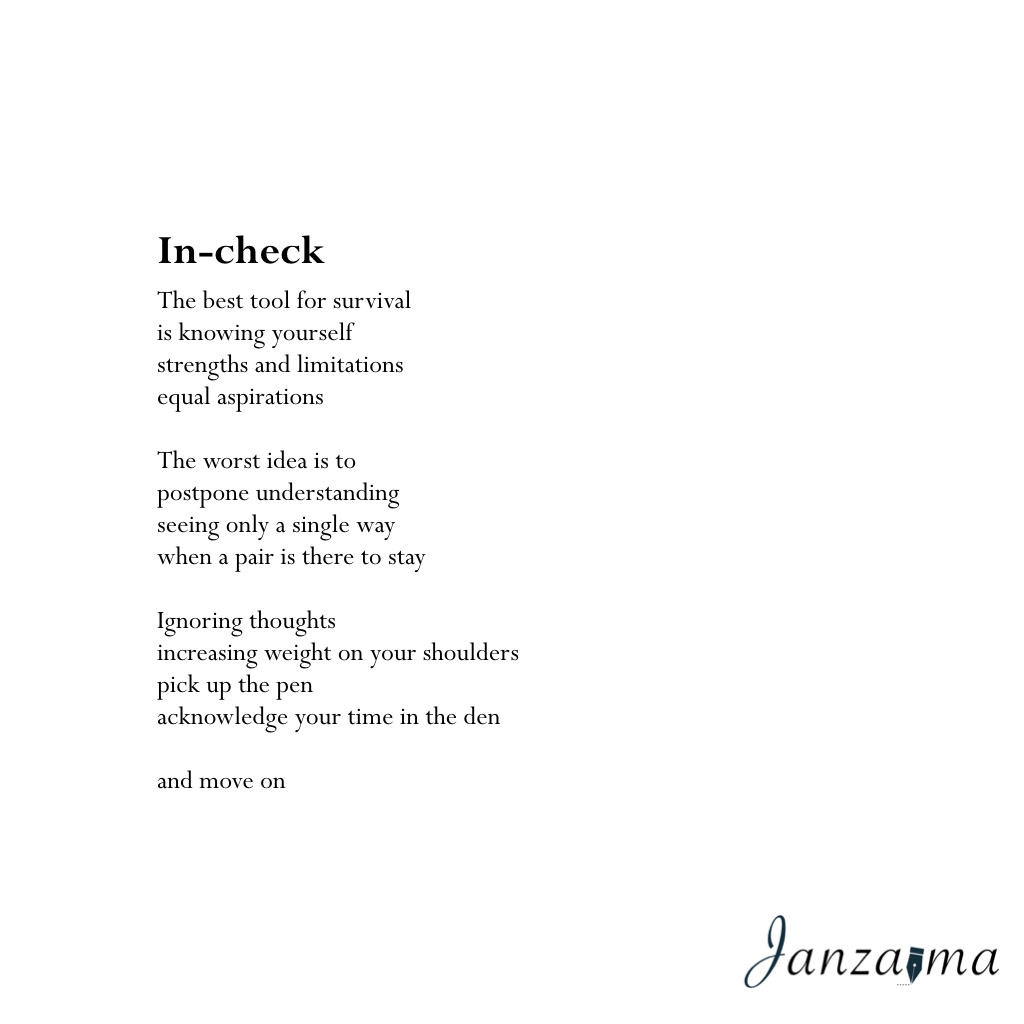 Janzajma poetry self-reflection