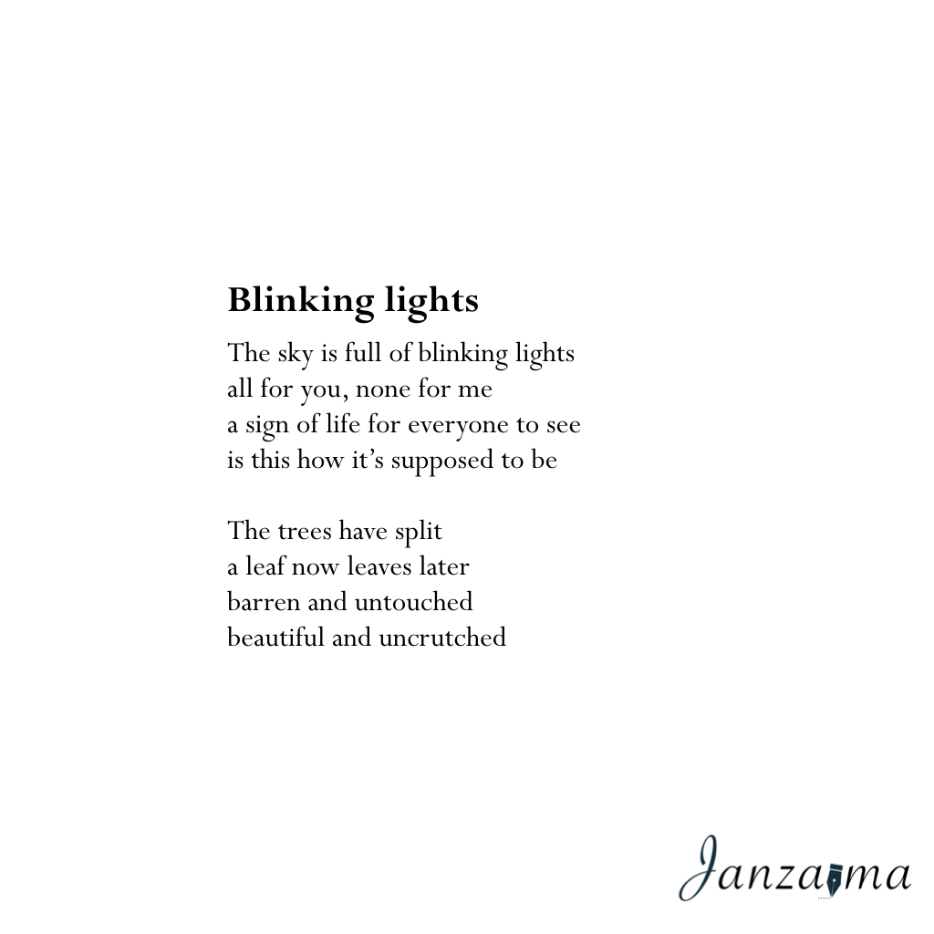 Blinking lights poem