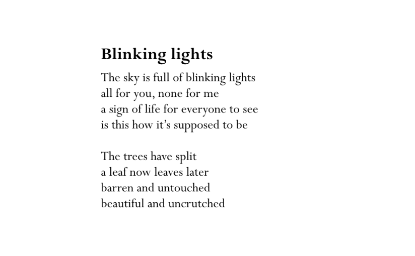 Blinking lights