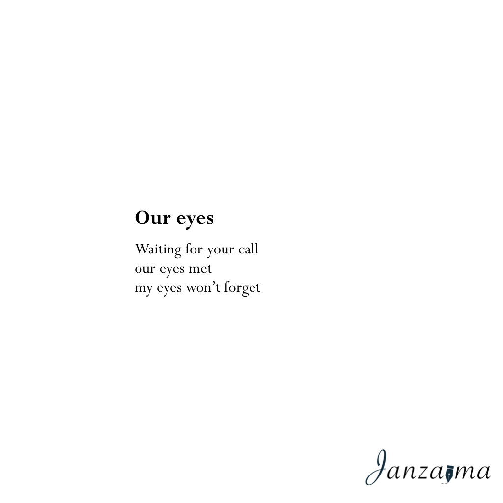 Our eyes poem