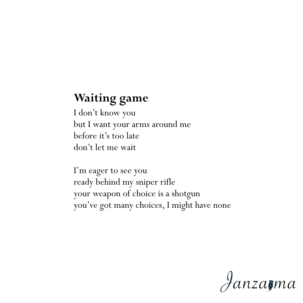 Waiting game poem